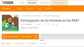 portada programa participación de las víctimas en los PDET